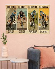 Cycling Be Badass Everyday 36x24 Poster poster-landscape-36x24-lifestyle-18