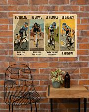 Cycling Be Badass Everyday 36x24 Poster poster-landscape-36x24-lifestyle-20