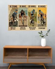 Cycling Be Badass Everyday 36x24 Poster poster-landscape-36x24-lifestyle-21