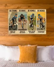 Cycling Be Badass Everyday 36x24 Poster poster-landscape-36x24-lifestyle-23