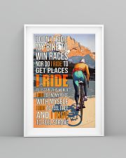 Cycling I Don't Ride To Win Races  24x36 Poster lifestyle-poster-5