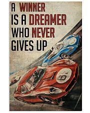 Motorsport A Winner Is A Dreamer  24x36 Poster front