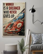 Motorsport A Winner Is A Dreamer  24x36 Poster lifestyle-poster-1