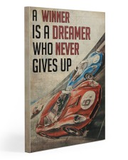 Motorsport A Winner Is A Dreamer  Gallery Wrapped Canvas Prints tile