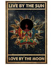Afro Girl Yoga Love By The Moon 24x36 Poster front