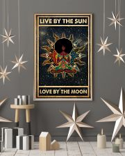 Afro Girl Yoga Love By The Moon 24x36 Poster lifestyle-holiday-poster-1
