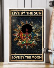 Afro Girl Yoga Love By The Moon 24x36 Poster lifestyle-poster-4
