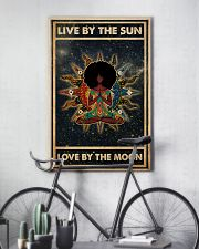 Afro Girl Yoga Love By The Moon 24x36 Poster lifestyle-poster-7