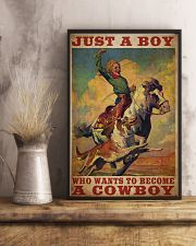 Boy Wants To Be Cowboy  24x36 Poster lifestyle-poster-3