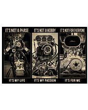 BW Engine It's Not A Phase  36x24 Poster front
