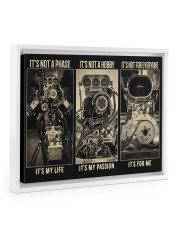 BW Engine It's Not A Phase  Floating Framed Canvas Prints White tile