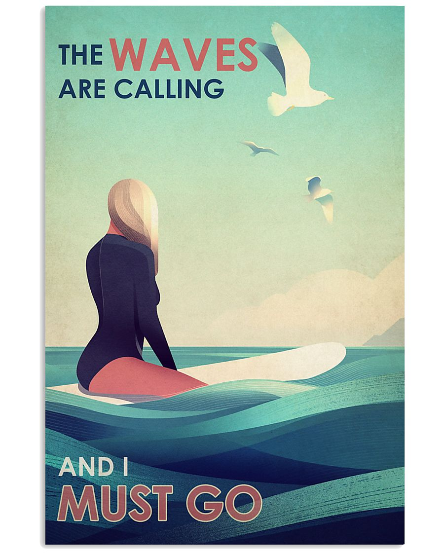 The Waves Are Calling - Surfing 24x36 Poster