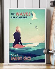 The Waves Are Calling - Surfing 24x36 Poster lifestyle-poster-4