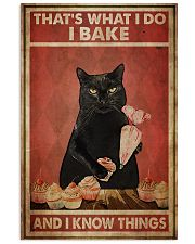 Black Cat I Bake And I Know Things 24x36 Poster front
