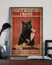 Black Cat I Bake And I Know Things 24x36 Poster lifestyle-poster-2
