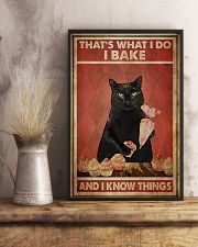 Black Cat I Bake And I Know Things 24x36 Poster lifestyle-poster-3