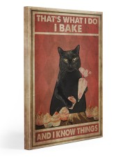 Black Cat I Bake And I Know Things Gallery Wrapped Canvas Prints tile