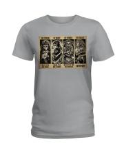 Sugar Skull Be Strong Ladies T-Shirt tile