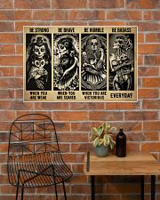 Sugar Skull Be Strong 36x24 Poster poster-landscape-36x24-lifestyle-20