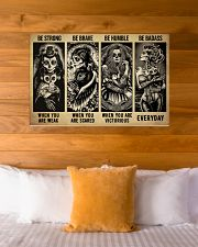 Sugar Skull Be Strong 36x24 Poster poster-landscape-36x24-lifestyle-23