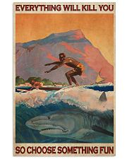 Surfing With Shark Choose Something Fun 24x36 Poster front