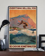 Surfing With Shark Choose Something Fun 24x36 Poster lifestyle-poster-2