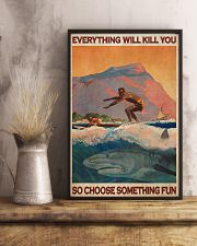 Surfing With Shark Choose Something Fun 24x36 Poster lifestyle-poster-3