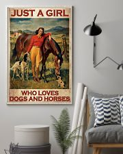 Girl Loves Horses and Dogs  16x24 Poster lifestyle-poster-1