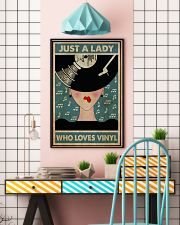 Just A Lady Who Loves Vinyl 24x36 Poster lifestyle-poster-6