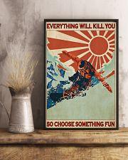 Snowboarding Choose Something Fun  24x36 Poster lifestyle-poster-3