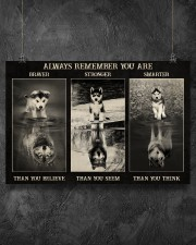 Husky Wolf Always Remember 36x24 Poster aos-poster-landscape-36x24-lifestyle-11