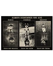 Husky Wolf Always Remember 36x24 Poster front