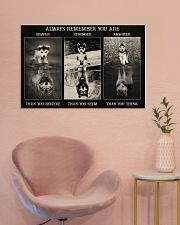 Husky Wolf Always Remember 36x24 Poster poster-landscape-36x24-lifestyle-19