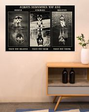Husky Wolf Always Remember 36x24 Poster poster-landscape-36x24-lifestyle-22