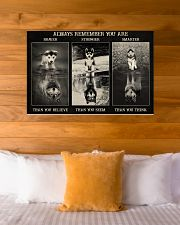 Husky Wolf Always Remember 36x24 Poster poster-landscape-36x24-lifestyle-23
