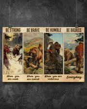 Bear Hunting Be Badass  36x24 Poster aos-poster-landscape-36x24-lifestyle-11
