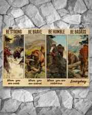 Bear Hunting Be Badass  36x24 Poster aos-poster-landscape-36x24-lifestyle-12