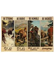 Bear Hunting Be Badass  36x24 Poster front