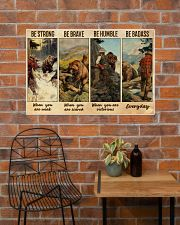 Bear Hunting Be Badass  36x24 Poster poster-landscape-36x24-lifestyle-20