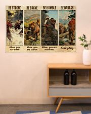 Bear Hunting Be Badass  36x24 Poster poster-landscape-36x24-lifestyle-22