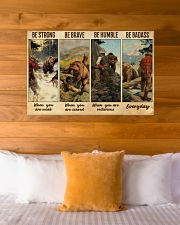 Bear Hunting Be Badass  36x24 Poster poster-landscape-36x24-lifestyle-23