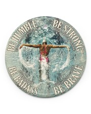 Swimming Be Strong  Circle ornament - single (porcelain) front