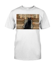 Black Cat When Visiting My House Classic T-Shirt thumbnail