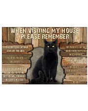 Black Cat When Visiting My House 36x24 Poster front