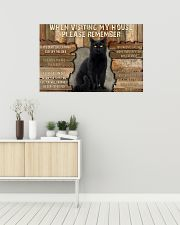 Black Cat When Visiting My House 36x24 Poster poster-landscape-36x24-lifestyle-01