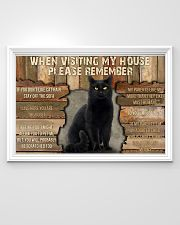 Black Cat When Visiting My House 36x24 Poster poster-landscape-36x24-lifestyle-02