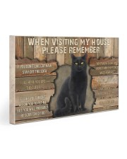 Black Cat When Visiting My House 30x20 Gallery Wrapped Canvas Prints thumbnail