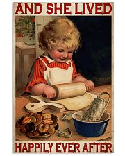 Girl Baking Lived Happily Ever After 24x36 Poster front