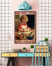 Girl Baking Lived Happily Ever After 24x36 Poster lifestyle-poster-6