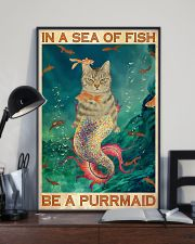Be A Purrmaid 24x36 Poster lifestyle-poster-2